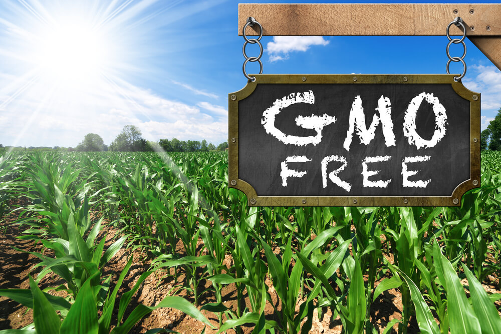 gmo free sign on field