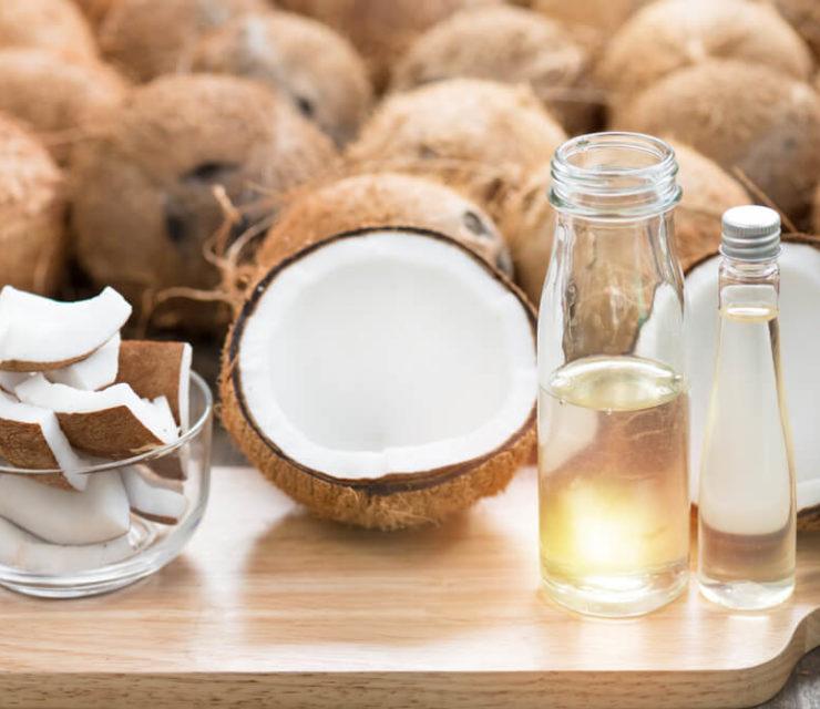 Virgin coconut oil in bottle