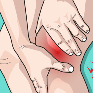 vector illustration drawing body people with leg and knee pain
