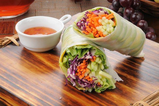 Crunchy Veggie Cabbage Wraps