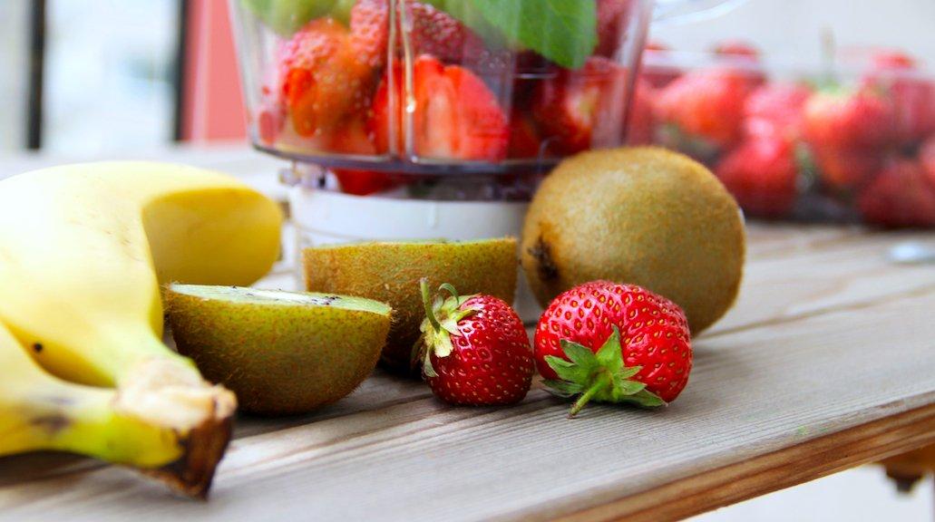 Strawberry Ginger Banana Smoothie