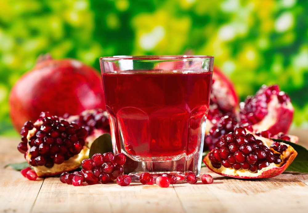 pomegranate ginger juice