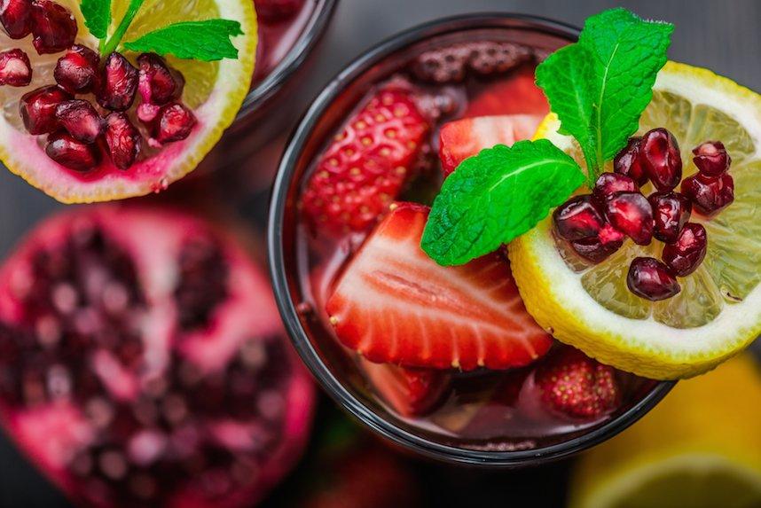strawberry pomegranate juice
