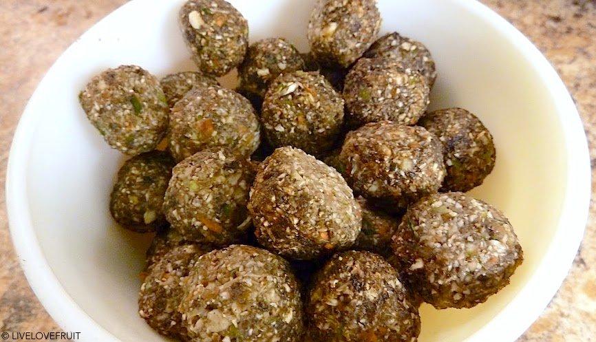 raw vegan beet balls