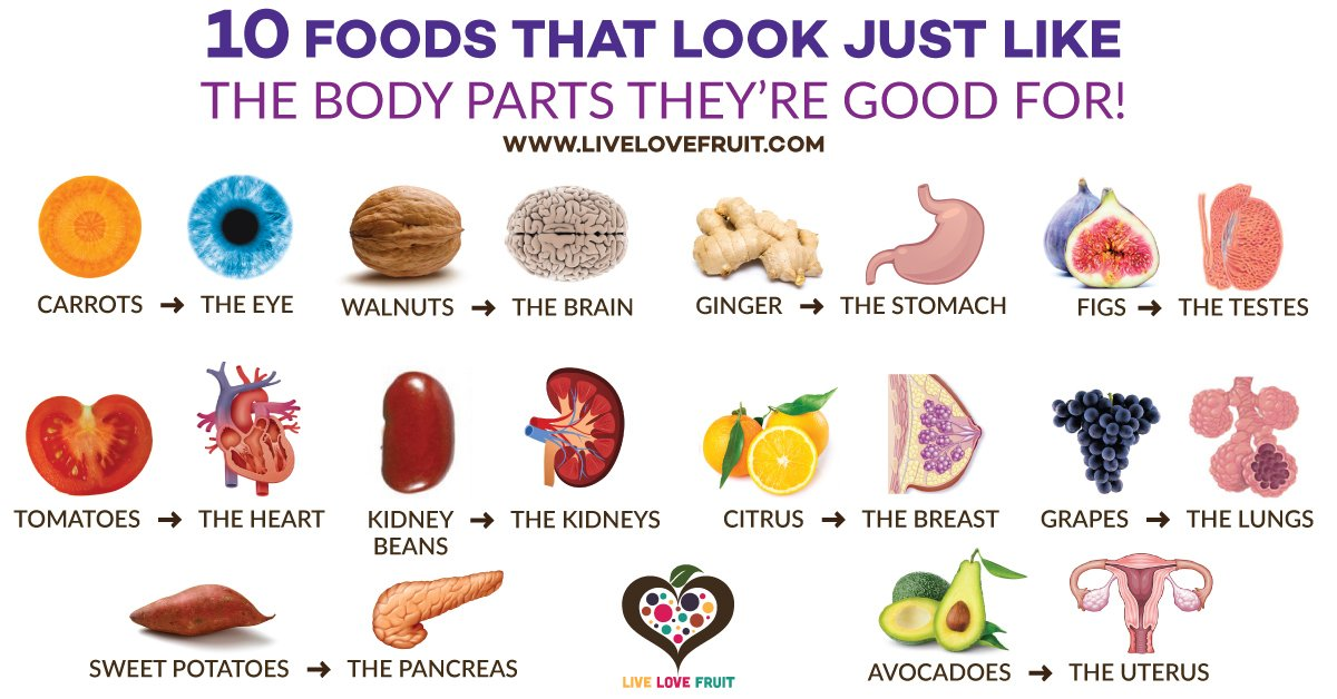 foods that look like body parts