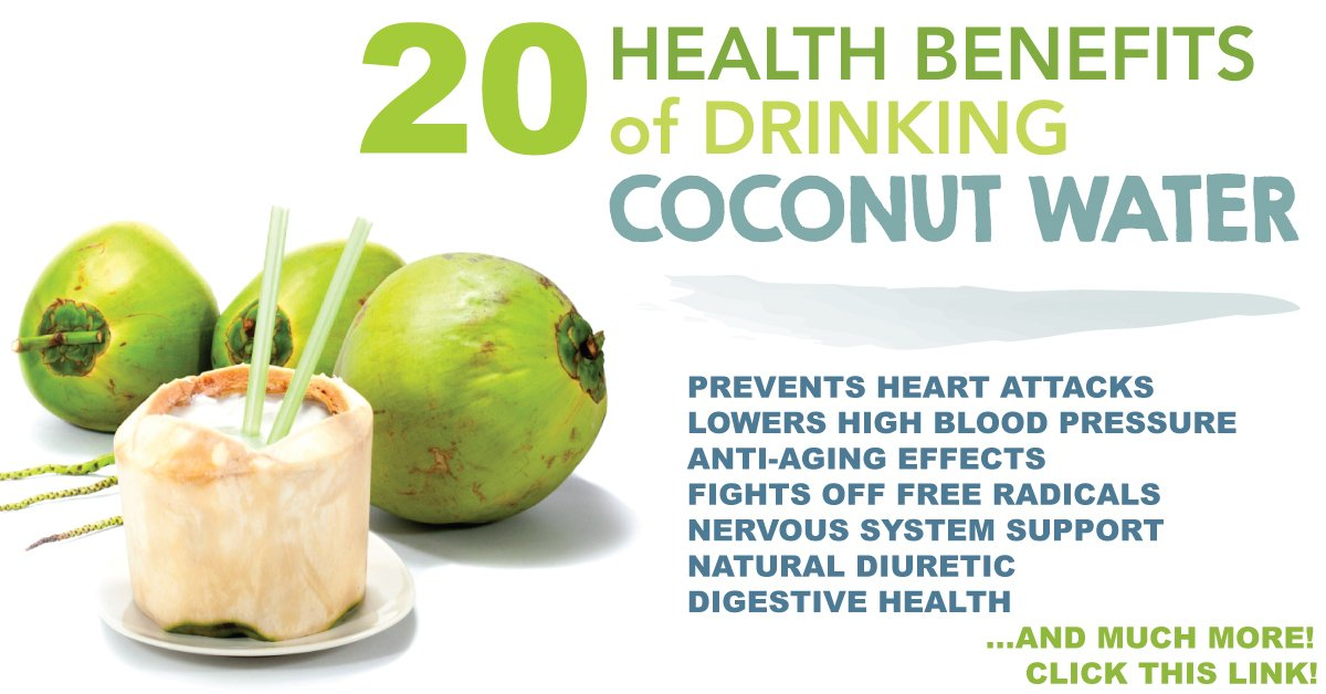 20 Incredible Health Benefits Of Coconut Water