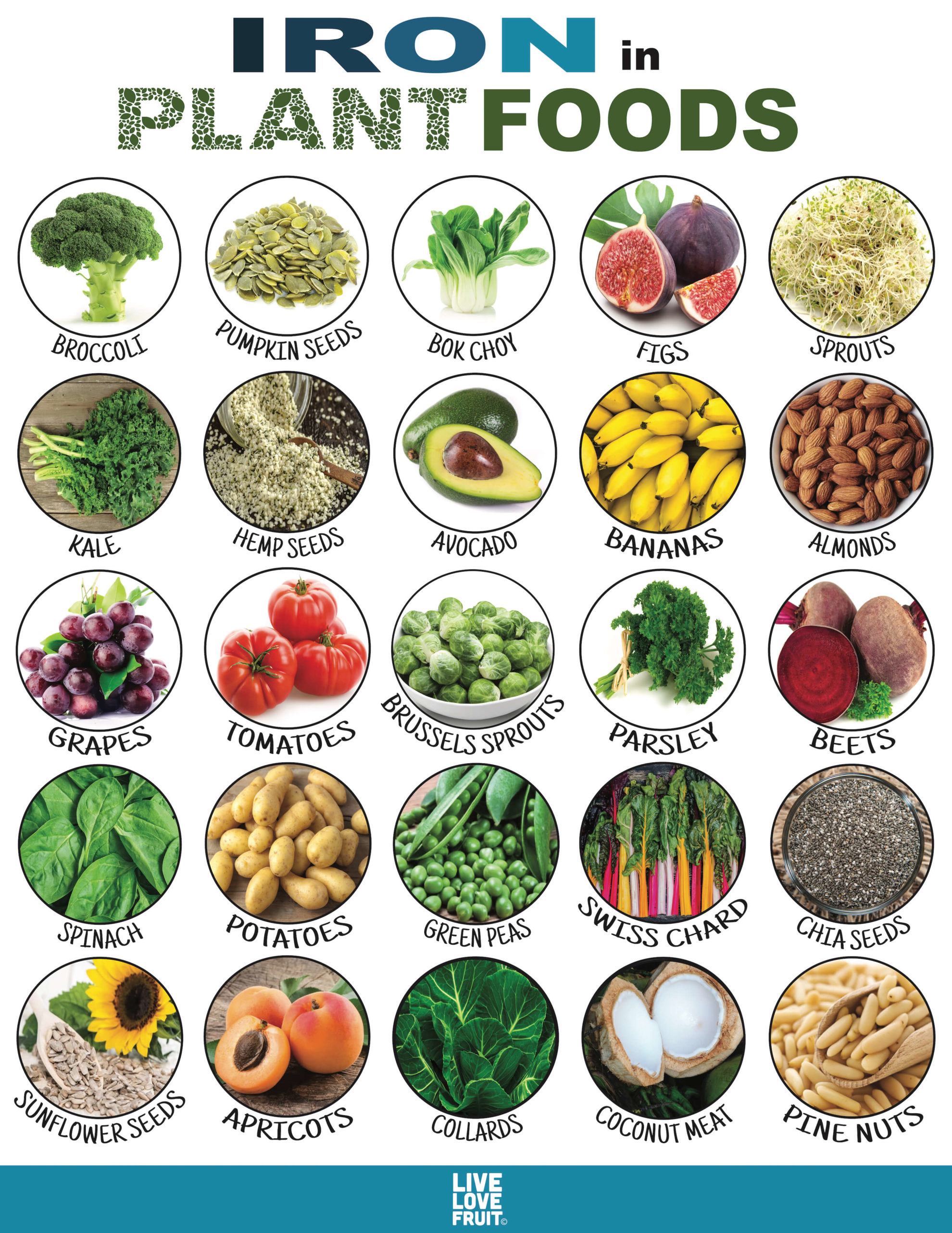 iron in plant foods