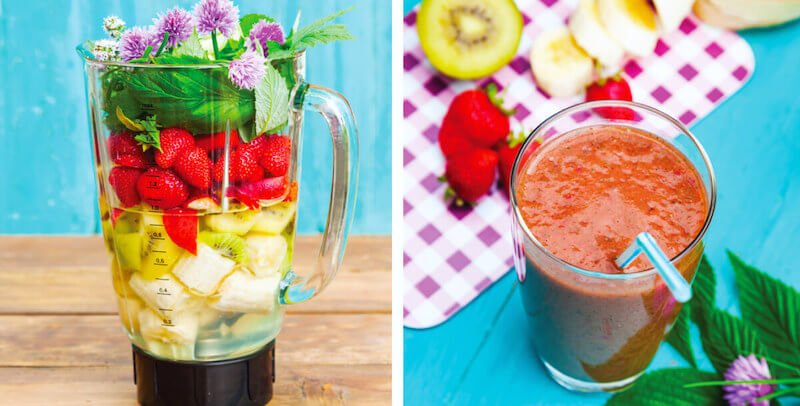 Red Clover Blossom Smoothie