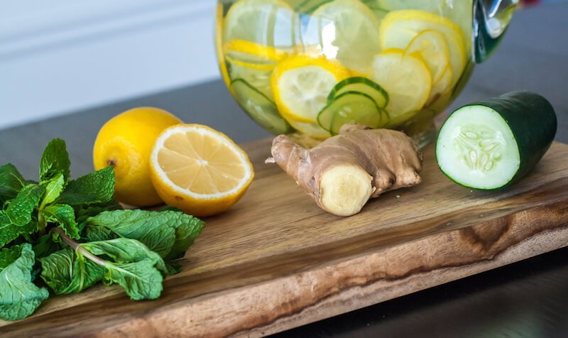 ginger-infused-lemon-water
