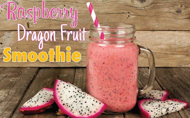 Raspberry Dragon Fruit Smoothie