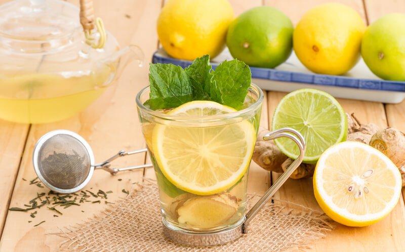 Lemon Mint Ginger Water