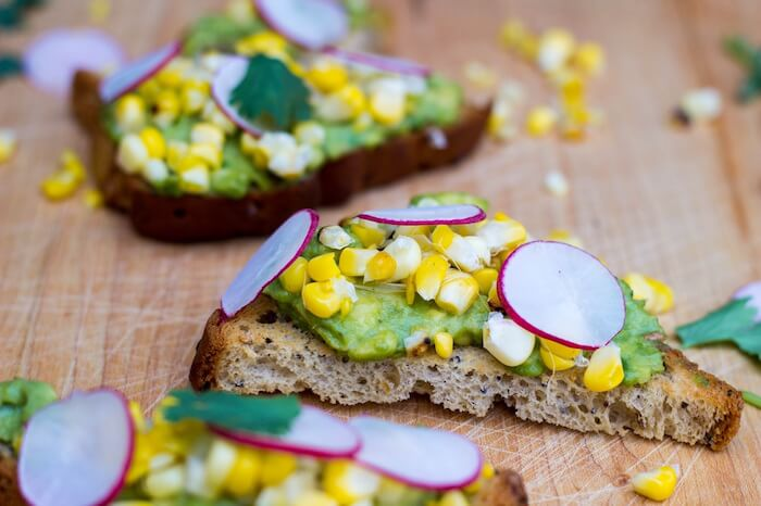 corn-avocado-radish-toast-6