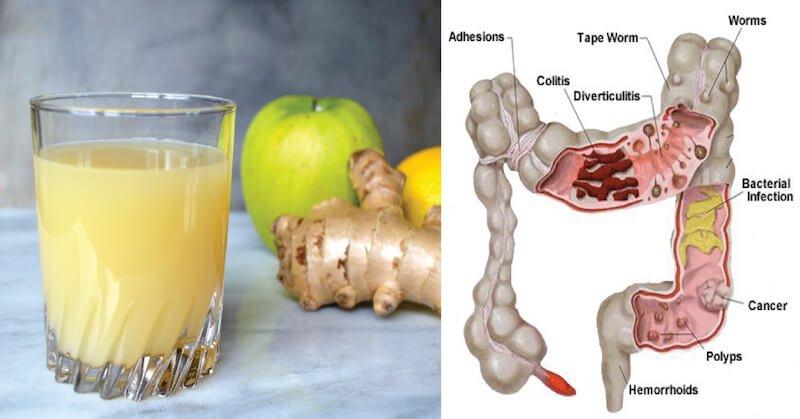 Apple Ginger Lemon Colon Cleanse Juice