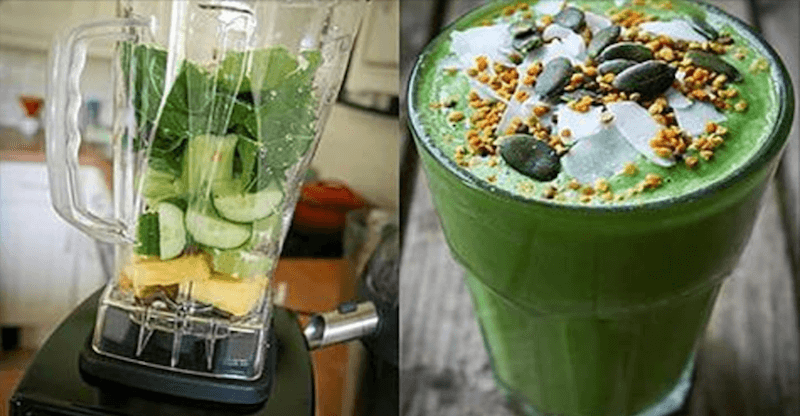 Avocado Lemon Ginger Smoothie