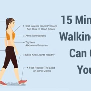 15 minutes of walking a day