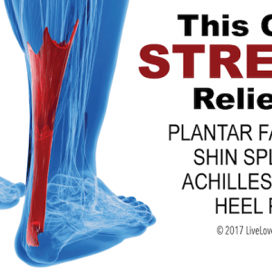 foot with demonstrated achilles pain