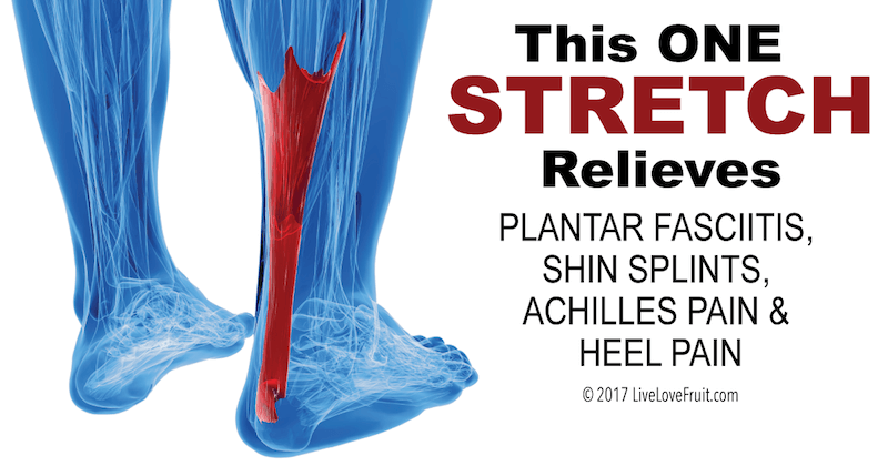 This One Stretch Relieves Plantar Fasciitis Shin Splints