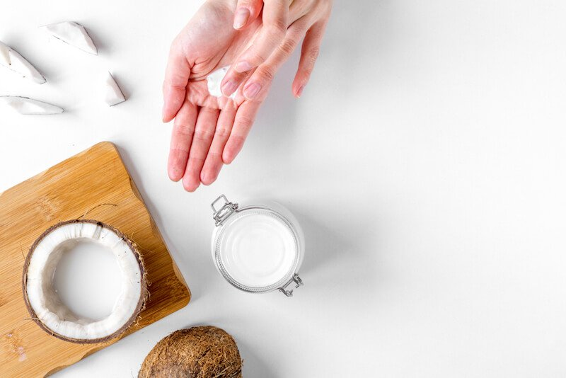 coconut oil on your face and skin