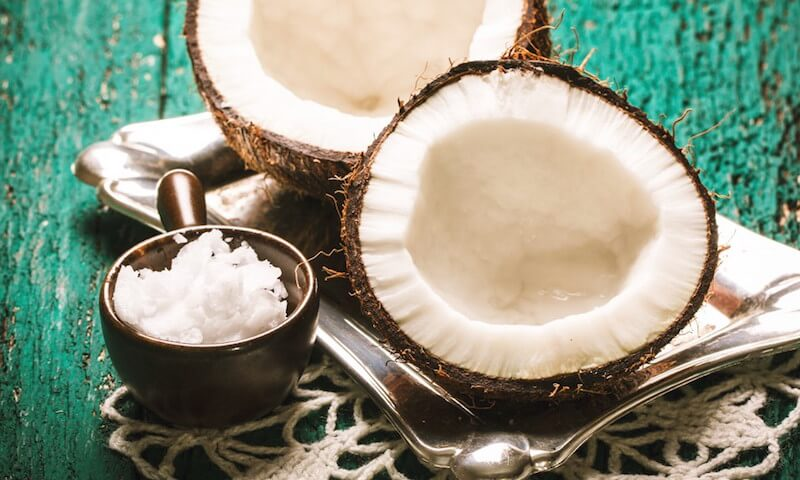 Coconut and its hardened oil