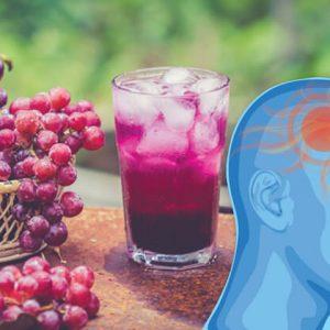 migraine-busting grape juice