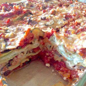 vegan gluten-free vegetable lasagna