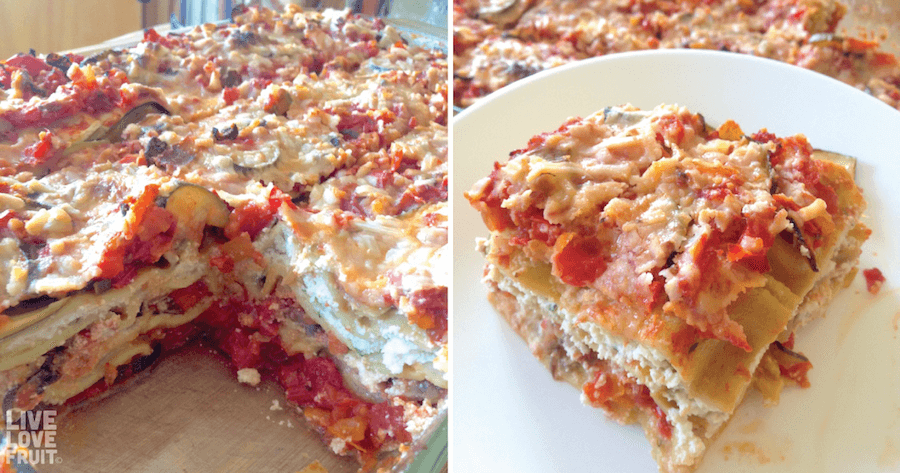 vegan gluten-free vegetable lasagna