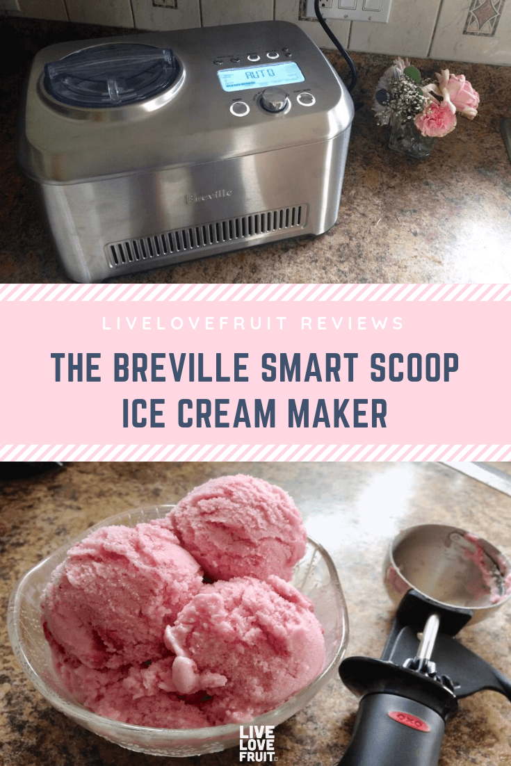 The fully automatic Breville Smart Scoop Ice Cream machine blends frozen desserts into delicious creations, and keeps them ready until it's time to serve.
