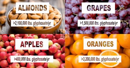 glyphosate-sprayed crops