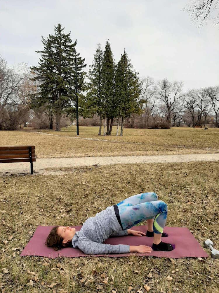 hip bridge exercise