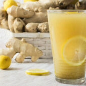 freshly pressed ginger and lemon juice