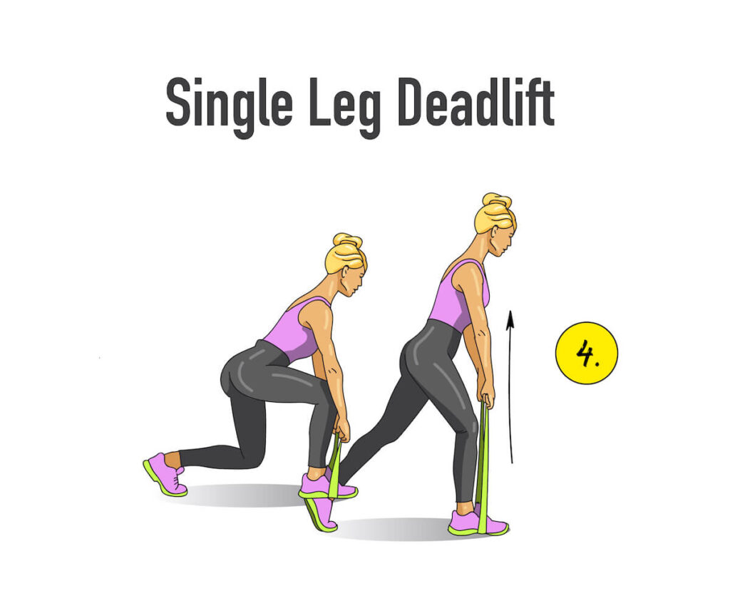 single leg deadlift illustrated