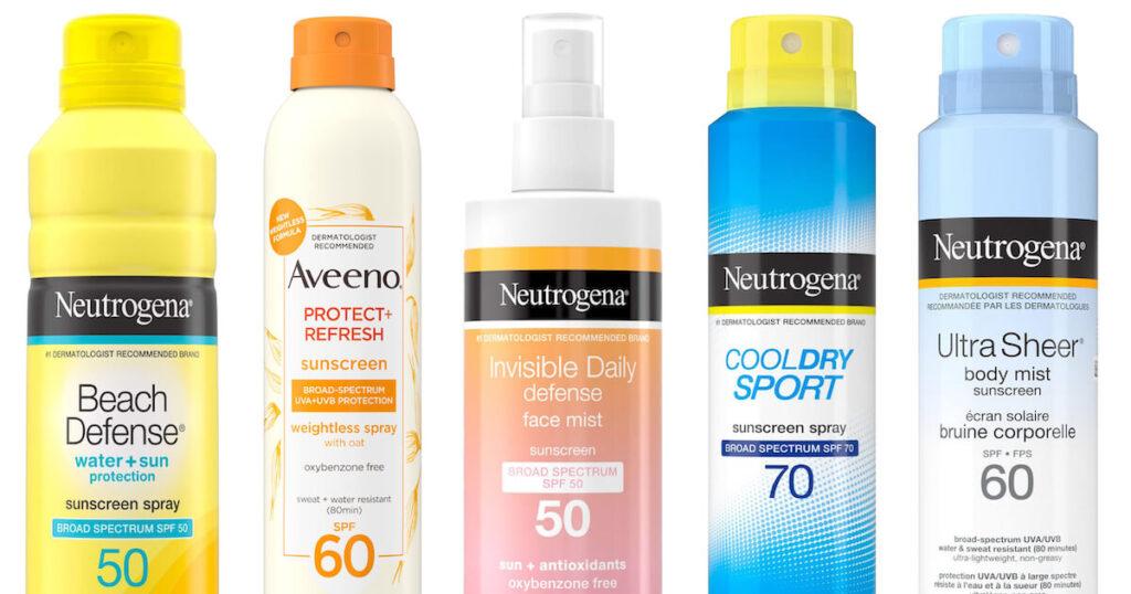 Neutrogena and Aveeno sunscreens recalled by Johnson & Johnson